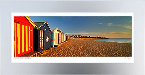 Brighton Beach Boxes Framed Print