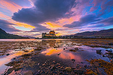 Eilean Donan Castle Sunset Photos