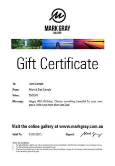 Photography Course Gift Voucher