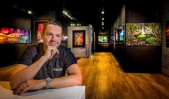 Landscape Photographer Mark Gray in his Mornington Gallery