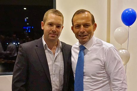 Mark Gray and Tony Abbott