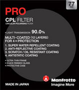 77mm Manfrotto Pro Circular Polariser